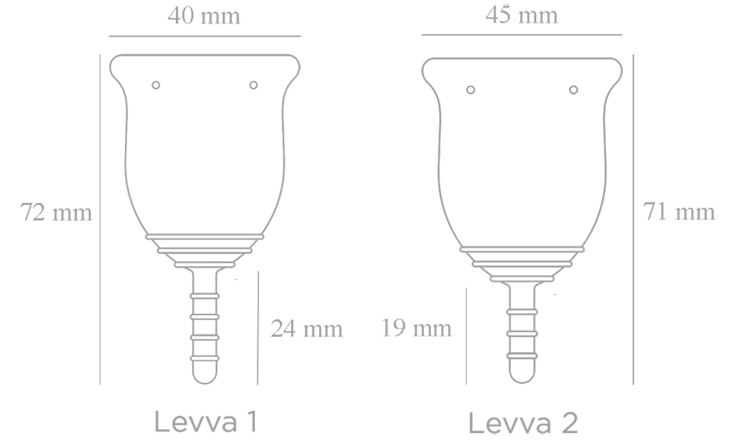 levvacup sizes